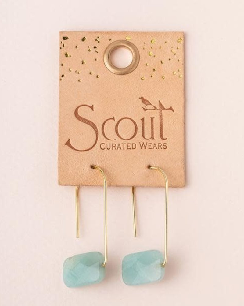 Scout Curated Wears Scout Labradorite & Gold Floating Stone Earrings
