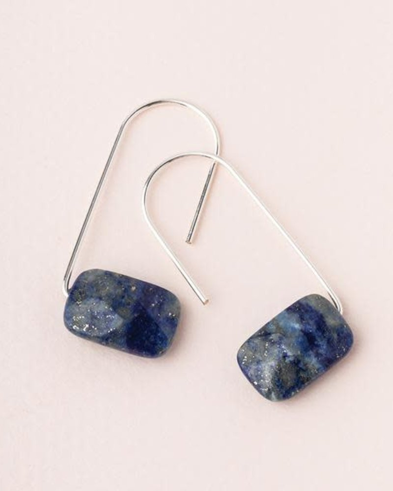 Scout Curated Wears Scout Lapis & Silver Floating Stone Earrings