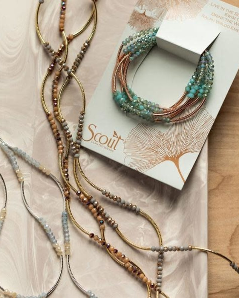 Scout Curated Wears Scout Matte Metallic Tri-Tone & Gold Original Wrap Bracelet/Necklace