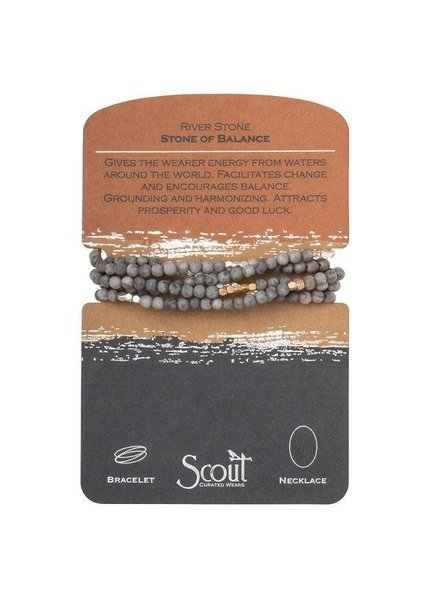 Scout Curated Wears River Stone Stone Wrap Bracelet/Necklace