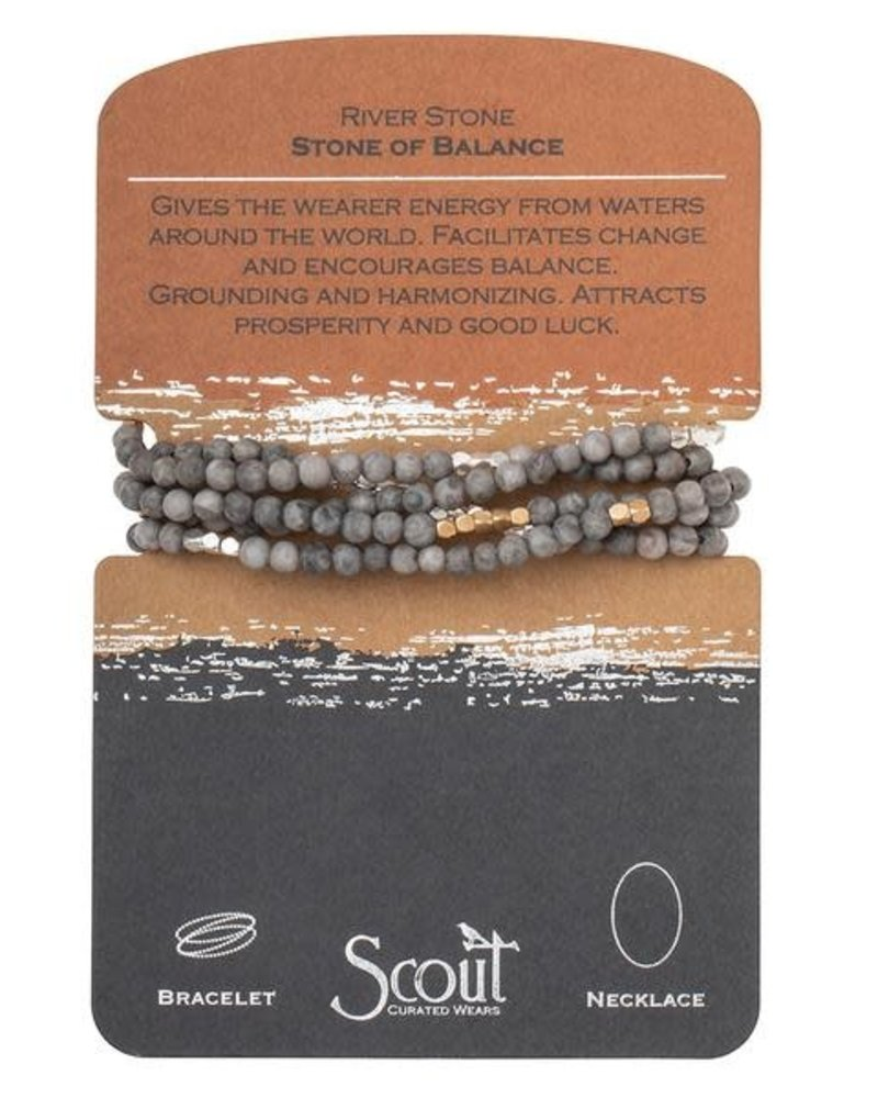 Scout Curated Wears Scout River Stone Stone Wrap Bracelet/Necklace