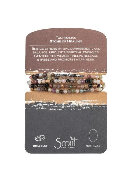 Scout Curated Wears Tourmaline Stone Wrap Bracelet/Necklace