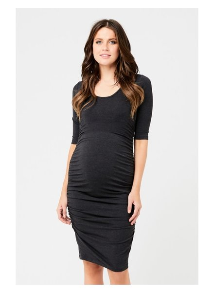Ripe Charcoal Marle Cocoon Maternity Dress