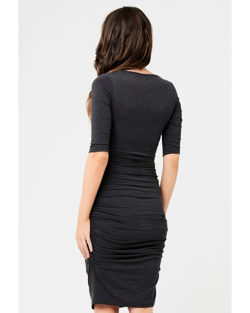 Ripe Ripe Maternity Charcoal 'Marle' Cocoon Dress