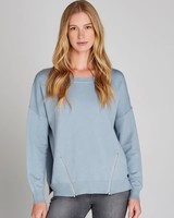Apricot Blue 'Zip Me Up' Sweater