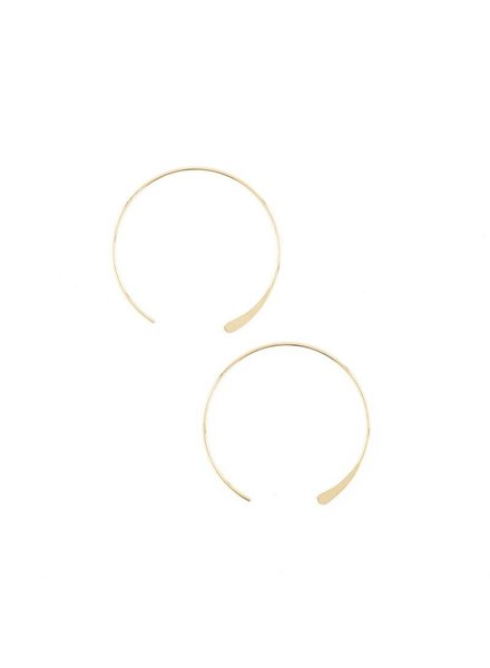 Baleen Medium 'Luna' Hoop Earrings