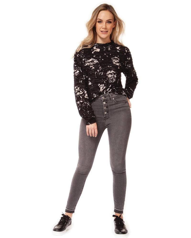 Dex Dex 'Floral Explosion' Sweater Top