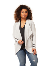 Dex Plus 'Curve Your Stripe' Cardi