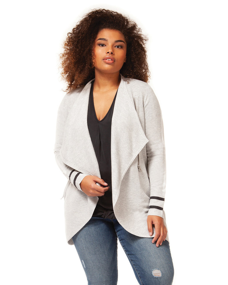 Dex Plus Dex Plus 'Curve Your Stripe' Cardi **FINAL SALE**