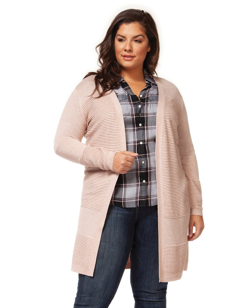 Dex Plus Dex Plus 'Peach Tree' Cardigan