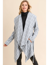 Doe & Rae 'Damion' Windowpane Shawl Coat
