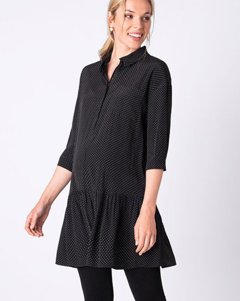 Seraphine Maternity Seraphine 'January' Dropped Waist Shirt Dress