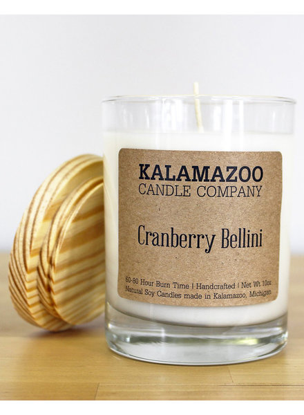 Kalamazoo Candle Co. Jar Candle in Cranberry Bellini