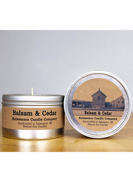 Kalamazoo Candle Co. Tin Candle in Balsam & Cedar