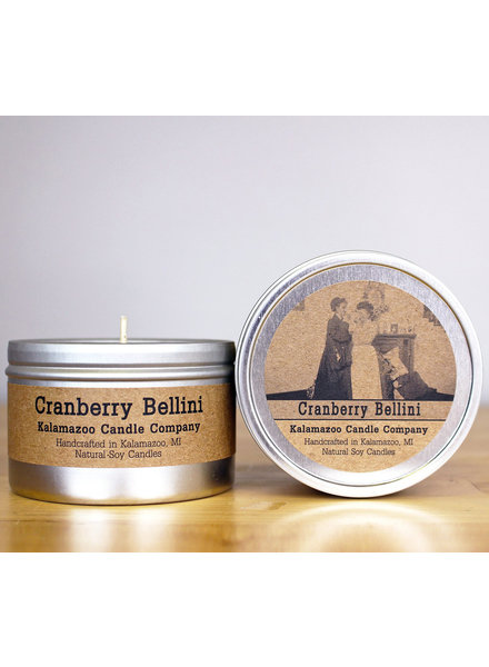 Kalamazoo Candle Co. Tin Candle in Cranberry Bellini