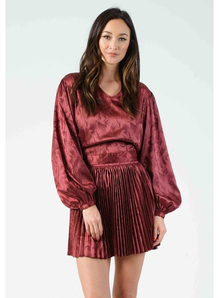 Lucca Lucca 'Sandy' Back Tie Blouse