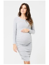 Ripe Ash Textured Knit Cocoon Maternity Dress
