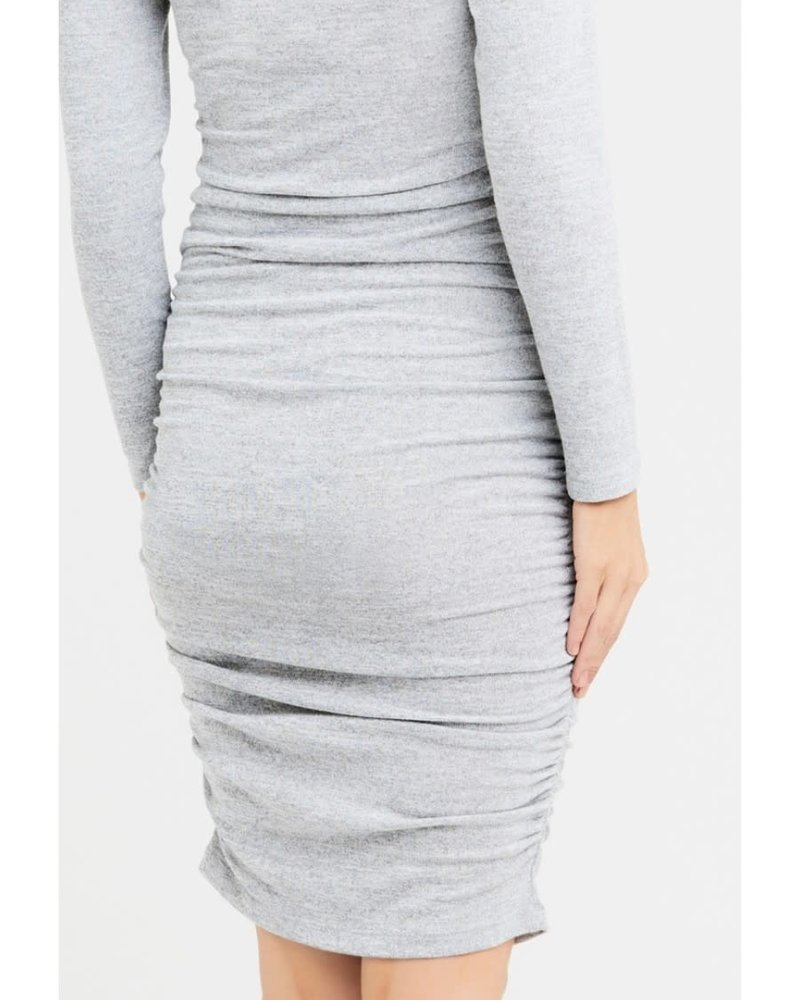 Ripe Ripe Maternity Ash Textured Knit Cocoon Dress