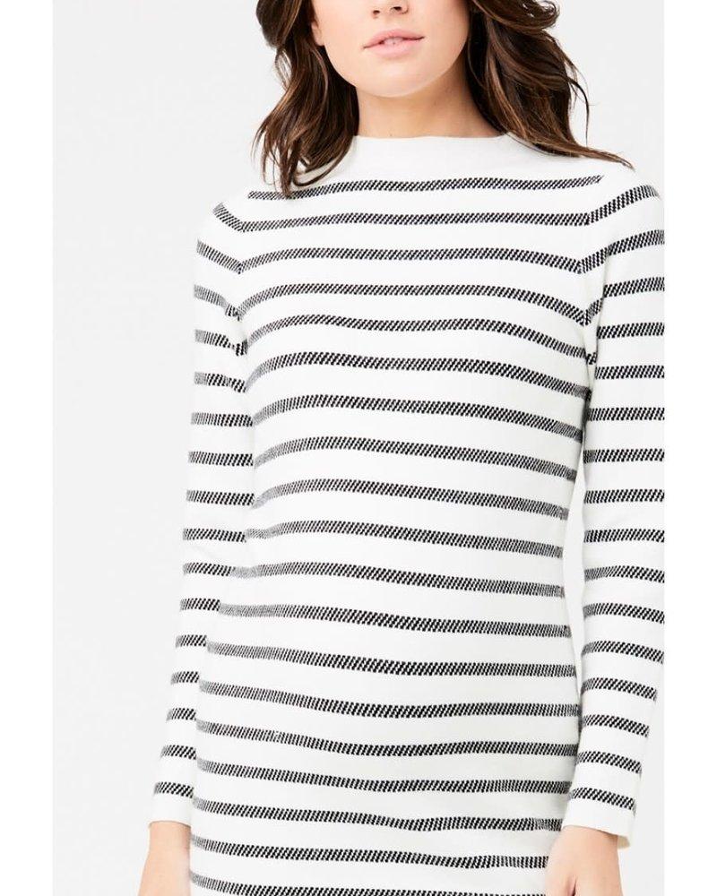 Ripe Ripe Maternity Grid Knit Dress