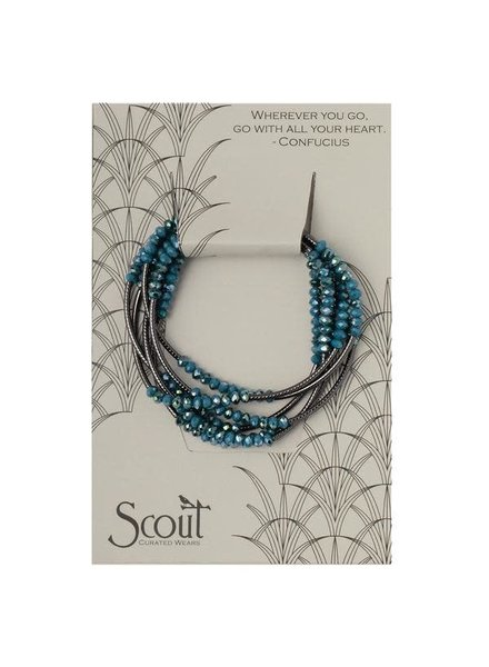 Scout Curated Wears Peacock & Hematite Original Wrap Bracelet/Necklace