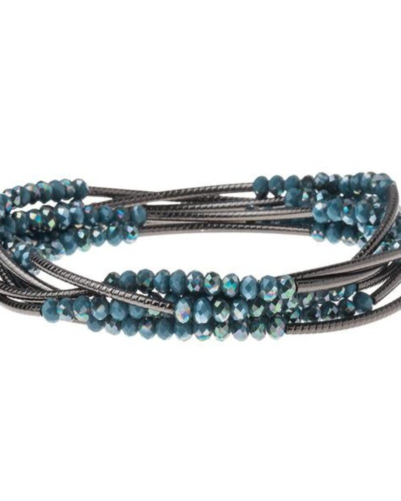 Scout Curated Wears Scout Peacock & Hematite Original Wrap Bracelet/Necklace