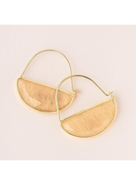 Scout Curated Wears Citrine & Gold Stone Prism Hoop Earrings