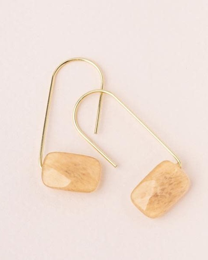 Scout Curated Wears Scout Citrine Floating Stone Earrings