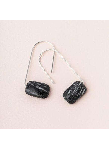 Scout Curated Wears Picasso Jasper & Silver Floating Stone Earrings