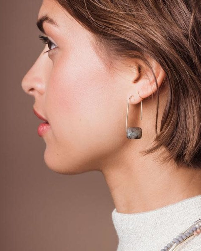Scout Curated Wears Scout Picasso Jasper Floating Stone Earrings