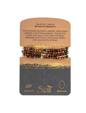 Scout Curated Wears Majestic Jasper & Gold Stone Wrap Bracelet/Necklace