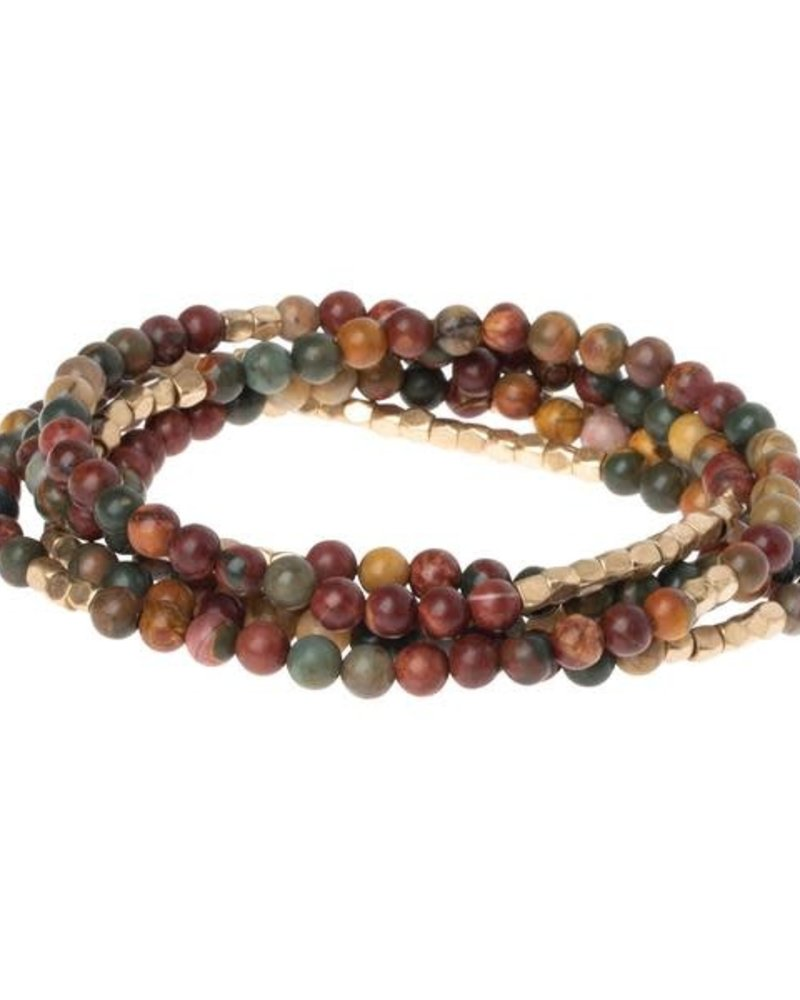 Scout Curated Wears Scout Majestic Jasper & Gold Stone Wrap Bracelet/Necklace