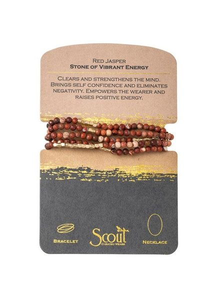 Scout Curated Wears Red Jasper Stone Wrap Bracelet/Necklace