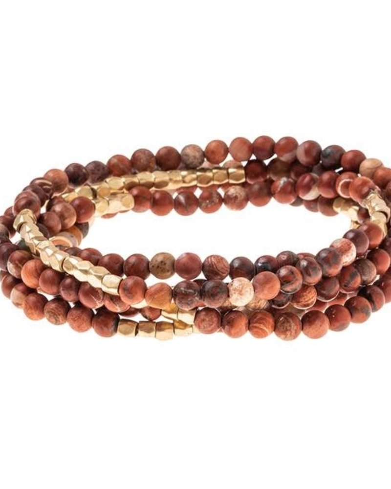 Scout Curated Wears Scout Red Jasper & Gold Stone Wrap Bracelet/Necklace