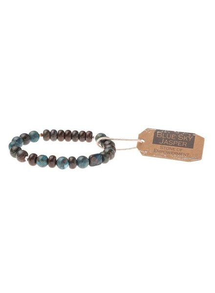 Scout Curated Wears Blue Sky Jasper Stone Stacking Bracelets