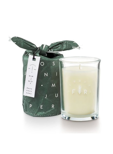 Illume Candles Frost & Fir Bundled Glass Candle in Juniper Moss