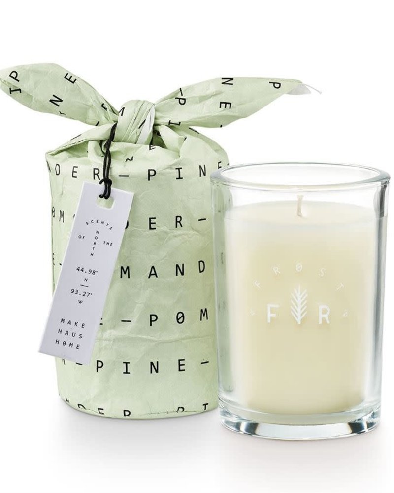 Illume Candles Illume Frost & Fir Bundled Glass Candle in Pomander Pine