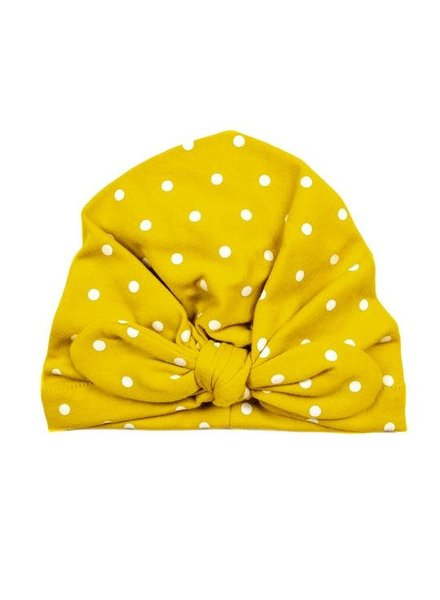 Emerson & Friends Mustard Polka Dot Baby Turban