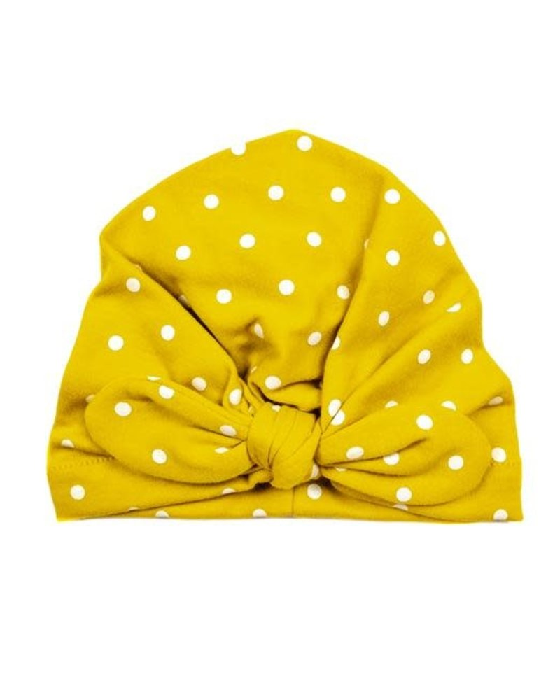 Emerson & Friends Emerson & Friends Mustard Polka Dot Baby Turban