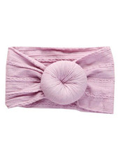 Emerson & Friends Mauve Cable Knit Bun  Baby Headband
