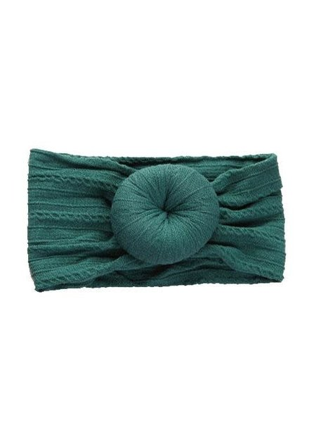 Emerson & Friends Emerald Cable Knit Bun  Baby Headband