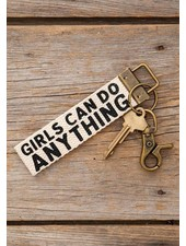 Natural Life 'Girls Can Do Anything' Canvas Keychain