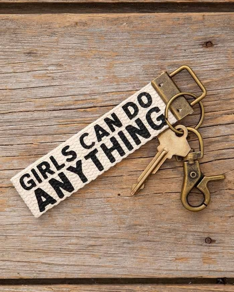 Natural Life Natural Life 'Girls Can Do Anything' Canvas Keychain