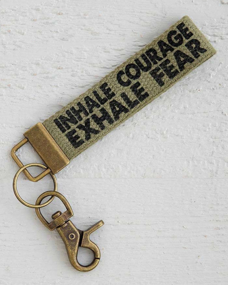 Natural Life Natural Life 'Inhale Courage' Canvas Keychain
