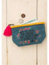 Natural Life Mini Canvas Pouch - 'Everything Is OK'