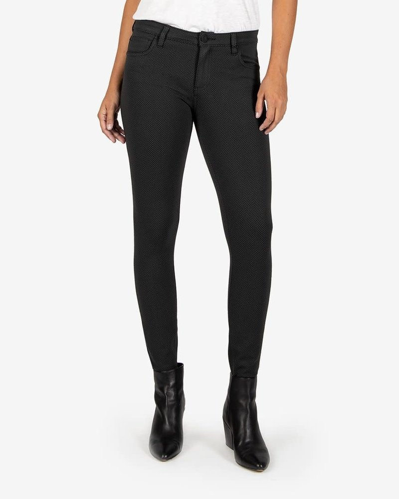 Kut from the Kloth Kut from the Kloth 'Donna' Skinny Ankle Ponte in Black & Grey