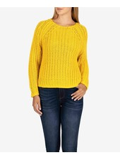 Kut from the Kloth Acid Yellow 'Page' Chunky Crewneck Sweater