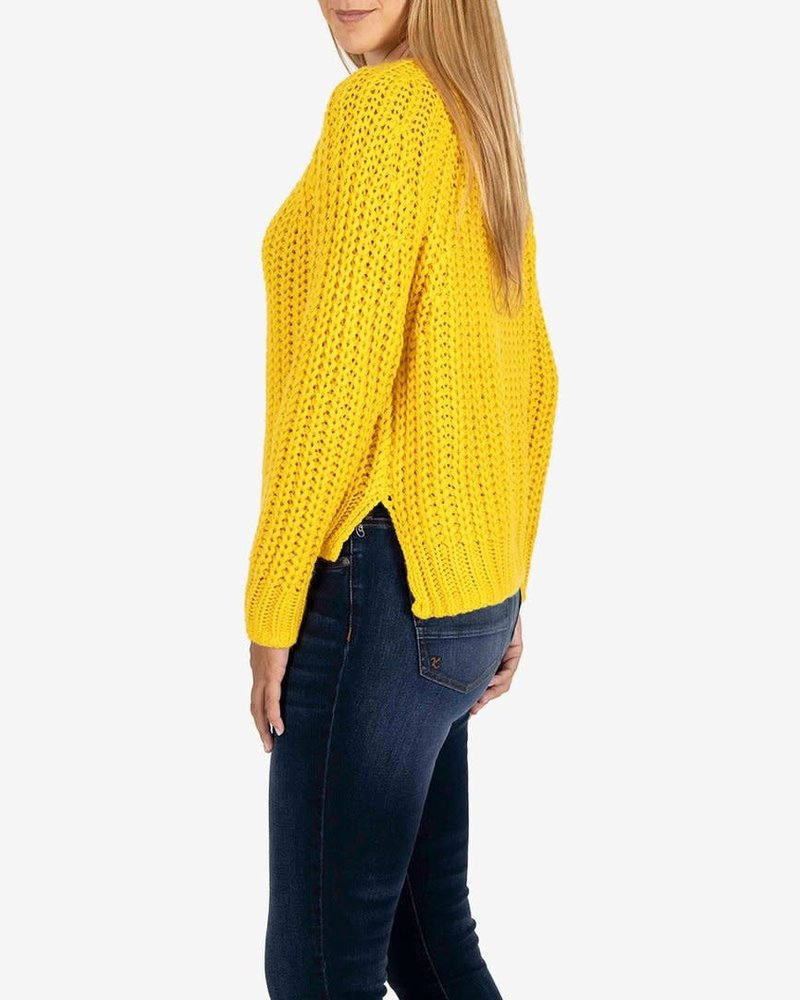 Kut from the Kloth Kut from the Kloth Acid Yellow 'Page' Chunky Crewneck Sweater