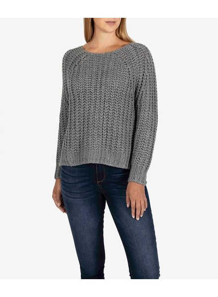 Kut from the Kloth Grey 'Page' Chunky Crewneck Sweater
