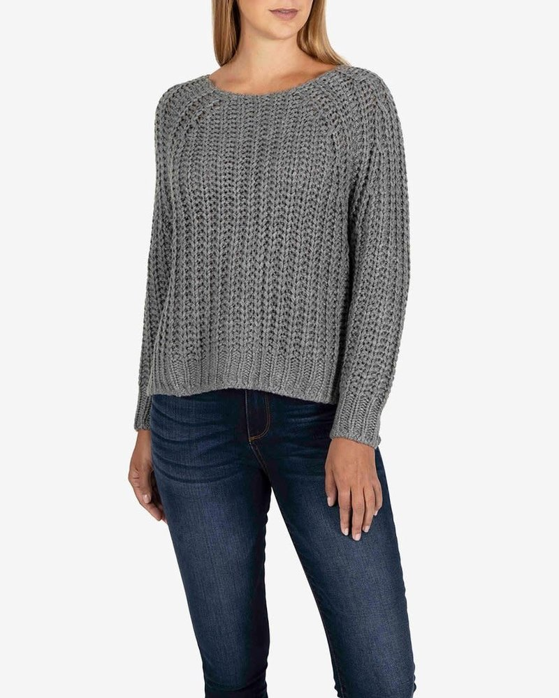 Kut from the Kloth Kut from the Kloth Grey 'Page' Chunky Crewneck Sweater