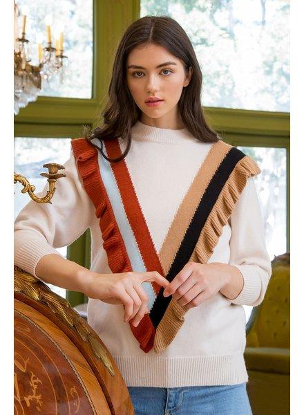 THML 'Ruffle Me Baby' Sweater